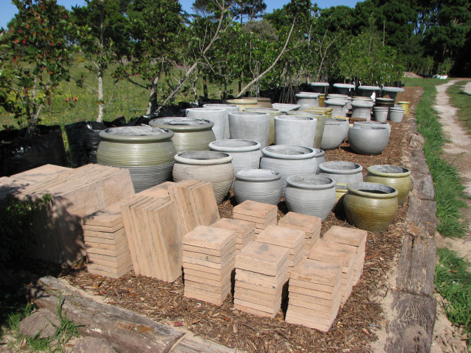 Ouland Nursery's new selection of concrete pots